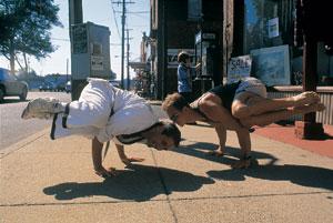 Street Style Balancing Posture